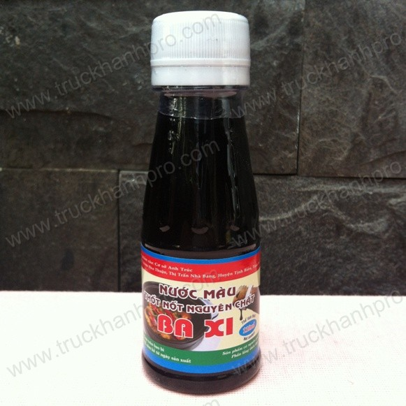 Nước màu thốt nốt Ba Xi chai 110ml (Đường thốt nốt đắng Ba Xi)