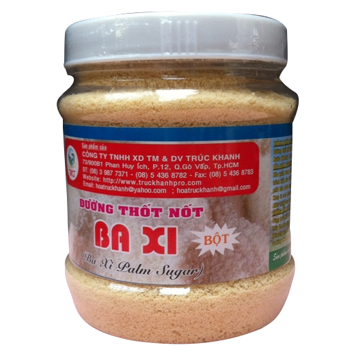 Ba Xi Palmyra Sugar Powder Plastic Jar 200g